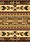 "Southwestern Black Navajo Carpet 5x8 Arrows Stripes Area Rug : Actual 5'3""x7'2"""
