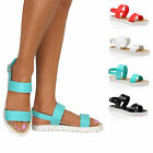 Ladies Jelly Summer Sandals Retro Flat Cleated Slingback Flip Flops Beach Size
