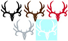 DEER SKULL VINYL GRAPHIC CAR DECAL/STICKER - CHOICE OF 6 COLORS & 2 SIZES
