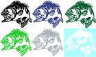 BASS FISH VINYL GRAPHIC CAR DECAL/STICKER - CHOICE OF 6 COLORS