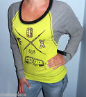New FOX RACING RIDERS Raglan Sleeve NEON Contrast CUT OUT Top Shirt  S M L XL