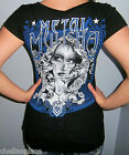 NWT Sexy METAL MULISHA Black & Blue GRAPHIC T Shirt Top TEE Choose Size S M L XL