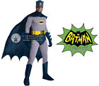 DELUXE HIRE QUALITY CLASSIC BATMAN SUPERHERO ADULT MENS FANCY DRESS COSTUME