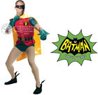 DELUXE HIRE QUALITY ROBIN SUPERHERO ADULT MENS FANCY DRESS COSTUME