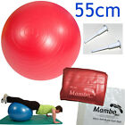 Msd PALLA PSICOMOTORIA ANTISCOPPIO 55cm+2 tappi ROSSA Pilates GYM FIT SWISS BALL