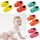 New Baby Infant Bow Tassel Soft Sole Leather Shoes Toddler Moccasin 0-24 Months