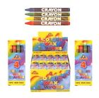 4 Mini Colouring Wax Crayons (Choose How Many Packs) Party Loot Bag Toys Fillers