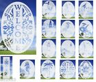"""Home Decor 21""""x 33"""" Oval Window Decoration Door DECAL Provides etched glass look"""