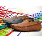 Mens ostrich print leather slip on loafers driving car shoes boat shoes sandals