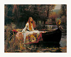 "John William Waterhouse The Lady of Shalott Framed Canvas 33.5""x27"" (V01-17)"