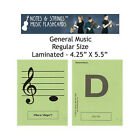 "General Music 4.25""x5.5"" Laminated Music Flashcards"