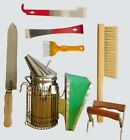 BEEKEEPING SUPPLIES, SMOKER, HIVING TOOLS, BRUSH, FRAME GRIP & UNCAPPING KNIFE