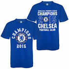 Chelsea FC Official Football Gift Mens Champions 2015 T-Shirt Blue (RRP £17.99!)