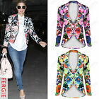 NEW LADIES BRIGHT FLORAL PRINT BLAZER JACKET WOMENS CELEB NEON LOOK JACKETS TOP