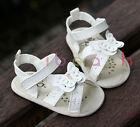 Baby Girl Butterfly Sandals Toddler White Crib Shoes Size Newborn to 18 Months