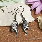ER2817 Graceful Garden Vintage Style Toucan Bird Charm Dangle Hook Earrings