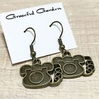 ER2821 Graceful Garden Vintage Style Rotary Dial Telephone Dangle Hook Earrings