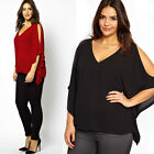 Summer Women Sexy Hollow Out Chiffon Loose Casual Blouse Shirt Tops Plus Size