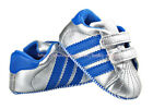 Infant Baby Boy Girl Silver Stripe Pram Shoes Trainers Size Newborn to 18 Months