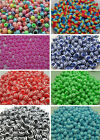 200Pcs Various colors striped beads spacer beads resin beads DIY 6mm DF13A