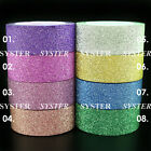 5M Paper Glitter Washi Tape Masking Adhesive Roll Decorative Card Craft #WT-01