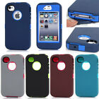 New Heavy Duty Defender Rugged Armor Shockproof Case Cover For Apple iPhone 4 4S