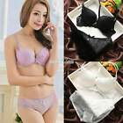 Women Girl Embroidery Lace Floral Bra Underwear Underwire Push Up Bra Set Cup