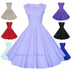 Maggie Tang 50s VTG Retro Pinup Hepburn Rockabilly Full Swing Business Dress 567