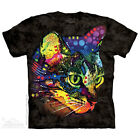 NEW MYSTERIO GAZE Cat Psychedelic Hippy Dean Russo The Mountain T Shirt Black
