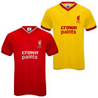 Liverpool FC Official Football Gift Mens 1986 Retro Home & Away Kit Shirt
