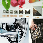 100x Pyramid Studs Punk Spikes Clothes Leathercraft Bags Shoes Metal Rivet DIY
