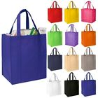 5 x Reusable Grocery Tote Shopping Bag - Reinforced Base Shopper Coloured BN