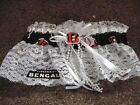 CINCINNATI BANGALS Football NFL Bridal Garter White lace trim Regular Plus size