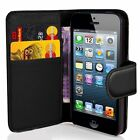 NEW BOOK WALLET LEATHER CASE COVER POUCH FOR APPLE IPHONE 4 4S 5 5S 5C 6 6 PLUS