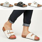 Womens ladies slip flat footbed open toe walking beach sandals slippers size