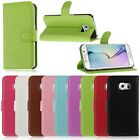 NEW LEATHER FLIP WALLET CASE COVER FOR SAMSUNG GALAXY S6 EDGE PHONE PROTECTOR