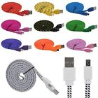 1M/2M/3M Micro USB Sync Data Charger Cable For Samsung Galaxy S3 S4 Flat Braided