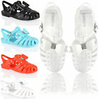 Kids girls fashion flat bow diamante summer beach holidayjelly jellies sandals