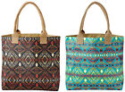 Pendleton Tote Bag Thunder & Earthquake Open Top Canvas in Turquoise or Black