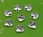 Free ship 40/60/100/300pcs retro style Love heart alloy charms pendants 11*10mm