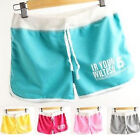 FD2099 Women Sexy Slim Cotton Sports Shorts Casual Slim Beach Mini Skirt Pants