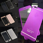 For iPhone 6 Plus 3D Metal Full Screen Cover Tempered Glass Case Protector 01A1