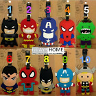 Avenger THOR HULK BATMAN SUPERMAN KID Travel Luggage Tag School Bag Silicone NEW