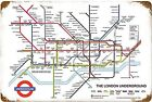 London Underground Map rusted metal sign     (pst 1812)