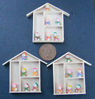 1:12 Single Assorted Clay Snowmen (6) & Wooden Frame Dolls House Accessory