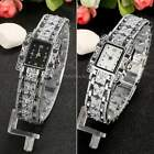 Women Stainless Steel Bracelet Crystal Rhinestone Quartz Analog Wrist Watch ItS7