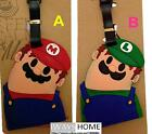 Super Mario Bros Luigi CARTOON KIDS CARD Travel Luggage Tag School Bag Silicone