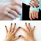 FD1818 3pcs Midi Finger Ring Set Silver Gold Stack Above Knuckle Band Gift Rings