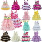 Newborn Baby Girls Bridesmaid Lace Tulle Tutu Party Baptism Dress Clothes 6M-4Y