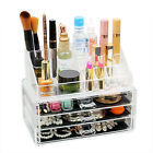 2 3 4 5 6 Storage Clear Acrylic Make up Drawers Box Organiser Display Case